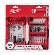 Milwaukee® SHOCKWAVE™ Impact Duty™ 48-32-4006 Drill and Drive Set, 1/4 in, Steel