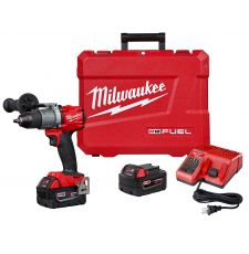 Milwaukee® M18™ 2804-22 Compact Lightweight Cordless Hammer Drill/Driver Kit, 1/2 in Hex Chuck, 18 VDC, 0 to 550/0 to 2000 rpm No-Load, REDLITHIUM™ Battery