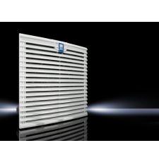 Rittal TopTherm 3241110 1-Phase Filter Fan Unit, 115 VAC, 0.52/0.48 A, 40/42 W Power Rating, 135.4/147.1 cfm Air Flow, NEMA 3/3R/4/4X/12/IP54/IP55/IP56 Enclosure