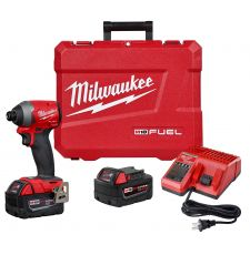 Milwaukee® M18™ FUEL™ 2853-22 Cordless Impact Driver Kit, 1/4 in Hex Drive, 4300 bpm, 2000 in-lb Torque, 18 VDC, 4.59 in OAL