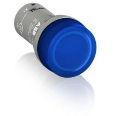 ABB CL2-502L Compact CL2 Illuminated Pilot Light, 24 VAC/VDC, 15 mA, Flat Round Glass Lens, Panel Mount