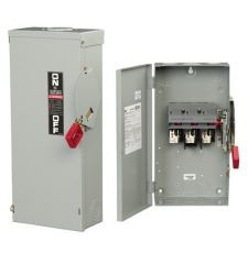 GE Spec-Setter™ TH4365C Type TH Dust-Tight Fused Heavy Duty Safety Switch, 600 VAC, 125/250 VDC, 400 A, 50 hp, 125 hp, 350 hp, 3 Poles
