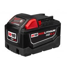 Milwaukee® M18™ REDLITHIUM™ 48-11-1890 Cordless Battery Pack, 9 Ah Lithium-Ion Battery, 18 VDC Charge, For Use With 18 V Cordless Tools