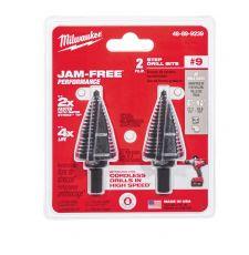 Milwaukee® 48-89-9239 Step Drill Bit Set, #9 Max Drill Bit, 2 Pieces, Black Oxide