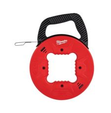 Milwaukee® 48-22-4172 Fish Tape, 1/8 in Tape, 50 ft L Tape, Round Profile, Steel Tape, Black/Red