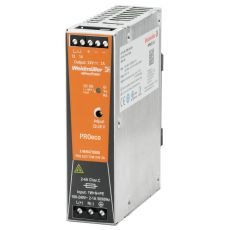 Weidmuller 1469470000 Pro Eco DC Power Supply, 85 to 264 VAC Input, 24 VDC Output, 72 W Power Rating, 3 A, DIN Rail Mount