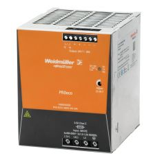Weidmuller 1469550000 Pro Eco DC Power Supply, 320 to 570 VAC Input, 24 VDC Output, 480 W Power Rating, 20 A, DIN Rail Mount
