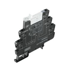 Weidmuller 2154970000 TERMSERIES TRS Electro-Mechanical Relay Module, 2.5 mA, 4.8 mA, 25.6 mA, 27.1 mA, 6 A, 1CO Contact, 24 to 230 VAC/VDC V Coil