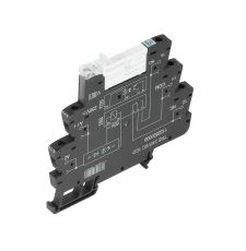 Weidmuller 2152940000 TERMSERIES Relay Module, 6 A, 1CO Contact, 24 VAC V Coil