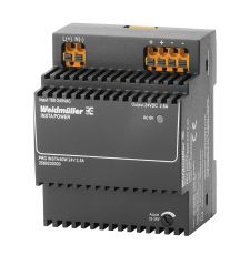 Weidmuller 2580230000 PRO INSTA Enclosed Switch Mode Power Supply, 85 to 264 VAC, 95 to 370 VDC Input, 24 VDC Output, 60 W Power Rating, 2.5 A, DIN Rail Mount